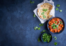 Chicken tikka masala background. Stock Photography
