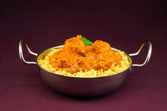 Chicken tikka masala balti dish Royalty Free Stock Photos