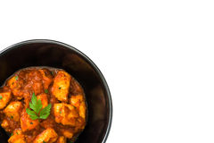 Chicken tikka masala in bowl isolated. On white background Royalty Free Stock Images