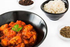 Chicken tikka masala in bowl Royalty Free Stock Photography