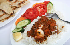 Chicken tikka masala curry meal Royalty Free Stock Photography