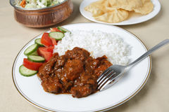 Chicken tikka masala meal Stock Image