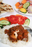 Chicken tikka masala meal vertical Stock Images