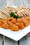 Chicken Tikka Masala. With naan bread Stock Images