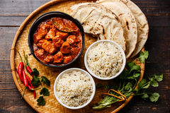 Chicken tikka masala spicy curry meat food Royalty Free Stock Photo