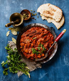 Chicken tikka masala spicy curry meat food Stock Images