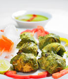 Chicken tikka Stock Photography
