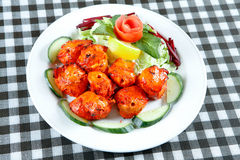 Chicken tikka with salad Royalty Free Stock Images