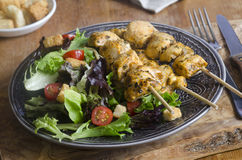 Chicken tikka skewers Royalty Free Stock Image