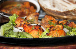 Chicken Tikka. On a table Royalty Free Stock Photo