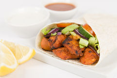 Chicken Tikka Wrap Stock Photo