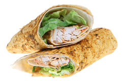 Chicken Tikka Wrap Stock Images