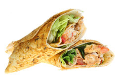 Chicken Tikka Wrap Royalty Free Stock Image