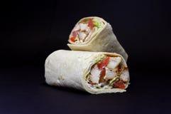 Chicken Tikka Wrap Royalty Free Stock Photo
