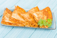 Chicken Tinga Quesadillas Royalty Free Stock Photography