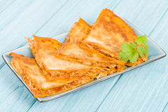 Chicken Tinga Quesadillas Stock Image