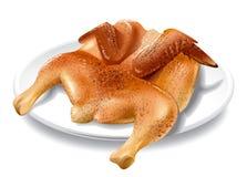 Chicken tobacco illustration Stock Image