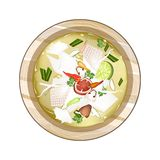 Chicken Tom Yum or Thai Spicy Sour Soup with Chicken Royalty Free Stock Image