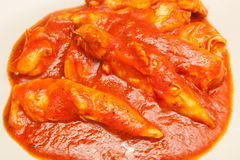 Chicken in tomato sauce Royalty Free Stock Image