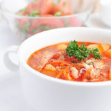 Chicken tomato soup Stock Photos