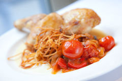 Chicken with Tomatoes Royalty Free Stock Photos