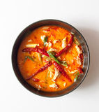Chicken tomyum the favourite spicy food in thailand Stock Photo