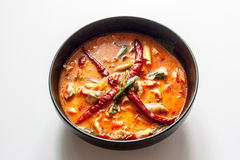 Chicken tomyum the favourite spicy food in thailand. Chicken tomyum the favourite spicy Thai food Royalty Free Stock Photos