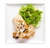 Chicken Tortilla Sandwich Royalty Free Stock Image