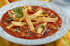 Chicken Tortilla soup Stock Photography