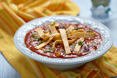 Chicken Tortilla soup Royalty Free Stock Photos
