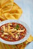 Chicken Tortilla soup royalty free stock photos