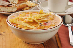 Chicken tortilla soup Royalty Free Stock Photo