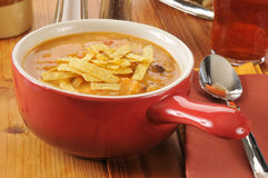 Chicken tortilla soup Stock Photos