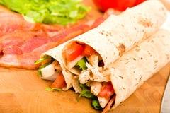 Chicken Tortilla Wraps royalty free stock photos