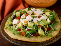Chicken Tostada Stock Photos