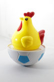 Chicken toy on isolated white. Background Stock Images