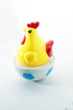 Chicken toy on isolated white royalty free stock photography