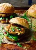 Chicken, turkey cranberry burgers Stock Photography