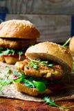 Chicken, turkey cranberry burgers Stock Photos