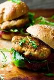 Chicken, turkey cranberry burgers Stock Image