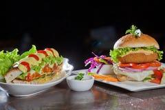 Chicken and Turkey Ham Sandwich Royalty Free Stock Photography