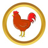 Chicken vector icon Royalty Free Stock Image