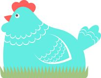 Chicken, vector illustration Royalty Free Stock Photo