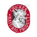 Chicken vector logo design template. food or farm Royalty Free Stock Images