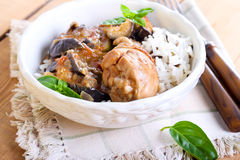Chicken and vegetable casserole Royalty Free Stock Images