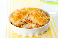 Chicken and vegetable pie Royalty Free Stock Photography