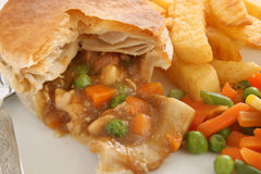 Chicken and Vegetable Pie Stock Photo
