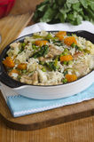 Chicken and vegetable pilaf Stock Photo