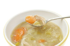 Chicken and vegetable soup Royalty Free Stock Photo