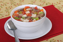 Chicken Vegetable Soup Royalty Free Stock Images